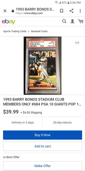 93 members only stadium club Barry Bonds for Sale in Farmington, IL