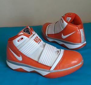 Nike Lebron Zoom Soldier III Orange White SIZE 7.5 MEN or 8.5 WOMEN for Sale in Marietta, GA