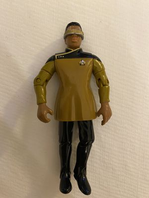 "1993 Lt Commander Geordi Laforge 4.5"" Action Figure Star Trek Playmates Toys for Sale in Fayetteville, NC"