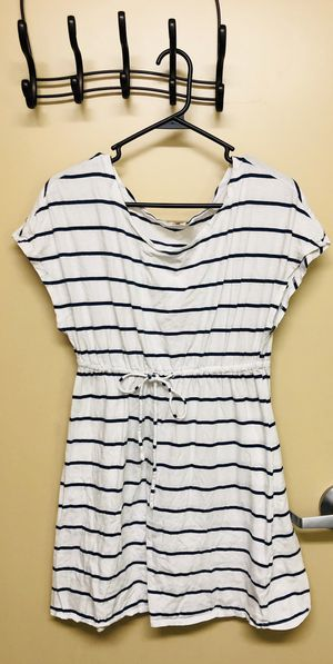 White with navy blue stripes casual dress (size medium) for Sale in Vancouver, WA