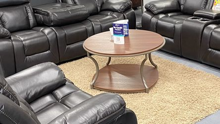 Brand New Brown Leather Manual Reclining Sofa Set $39 Down No Credit Needed Financing . We Deliver for Sale in Dallas,  TX