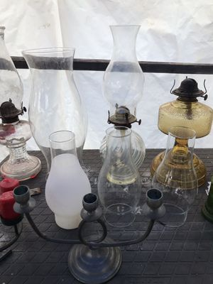 Antique Oil Lamps, glass, and Candle holders for Sale in Von Ormy, TX