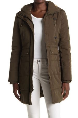 *Worn ONCE!* Lucky Brand - Olive Parka w/Hood [Retail $169] for Sale in Houston, TX