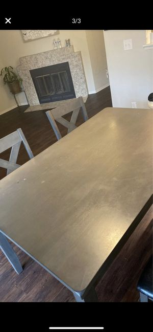Grey dining set for Sale in Puyallup, WA