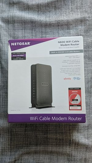 Netgear N600 wifi cable modem router for Sale in Redwood City, CA