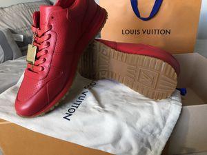 Supreme x Louis Vuitton red sneakers for Sale in Miami, FL
