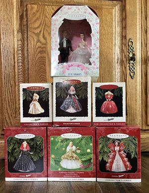 Barbie Hallmark Christmas Ornaments - 7 in Lot for Sale in La Mirada, CA