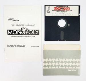 "Leisure Genius - Monopoly - 5.25"" Floppy Disk, Manual etc. (1985) - IBM PC Tandy for Sale in Trenton, NJ"