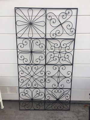 Black metal wall art hanging piece 32x60 for Sale in Richmond, CA