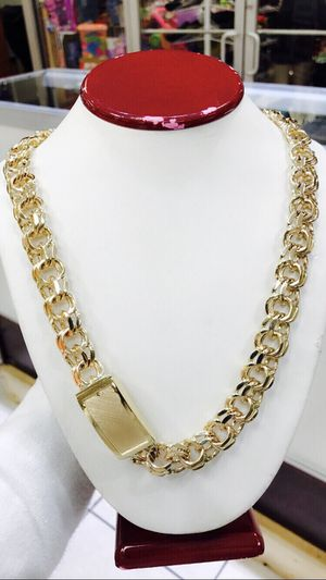 10 karat gold chino link chain custom made 200g (item #M200) for Sale in Houston, TX
