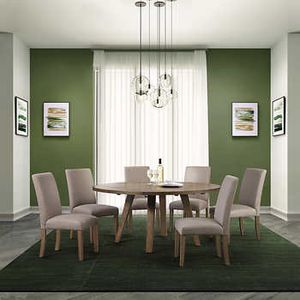 Leyton 7 piece squared or round dining set for Sale in Glenview, IL