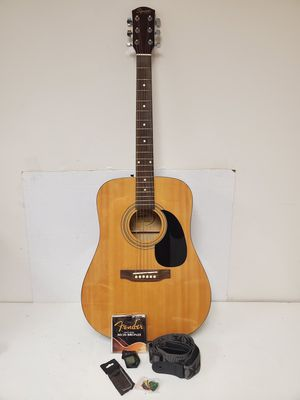 Fender Squire Acoustic Guitar 093-0315-021 With Soft Case, Shoulder Strap and Accessories for Sale in Duluth, GA
