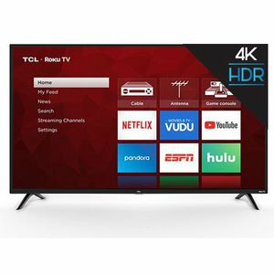 "TCL 55"" Class 4K UHD LED Roku Smart TV HDR 4 Series for Sale in Carrollton, TX"