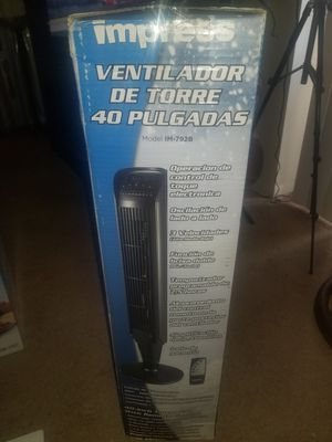 Impress 40-inches Tower fan with remote for Sale in Maywood, NJ