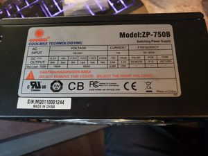 750 watt power supply for Sale in Evansville, IN