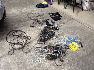 Huge lot of wires & pc/audio/game console/camera chargers and cables and controllers for Sale in Bellevue, WA
