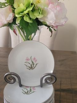 Grantcrest China Pink Orchid Japan, set of 8 bread plates for Sale in Tampa,  FL