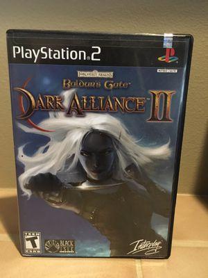 Baldur's Gate Dark Alliance 2 PlayStation 2 for Sale in Lynnwood, WA