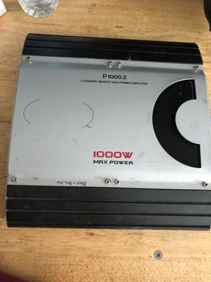 "1000 w watts watt amplifier amp subwoofer 12"" 10"" 15"" for Sale in San Francisco, CA"