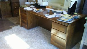 All Oak high quality office furniture! 1200.00 Save thousands. Excellent condition! for Sale in Denver, CO