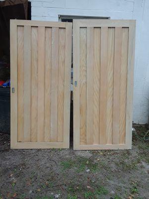 Wood closet sliding doors for Sale in DeBary, FL