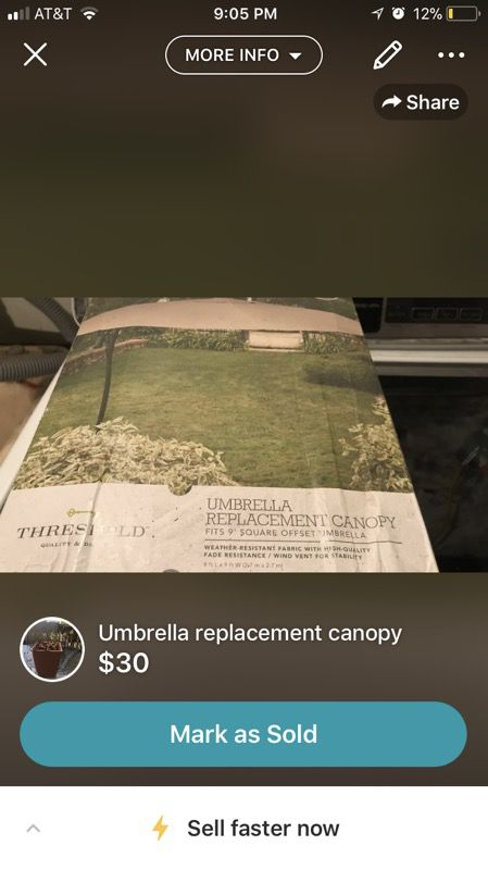 New umbrella canopy