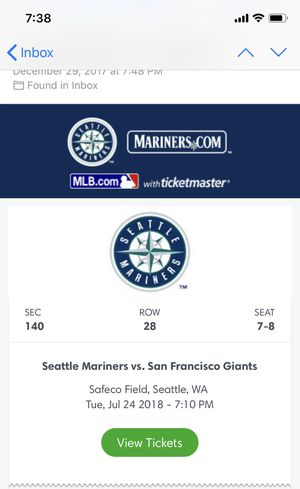 Seattle Mariners vs San Francisco giants for Sale in Hermiston, OR