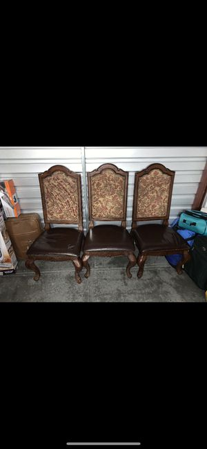 Antique Chair set 8 peace. ($50) a peace as is or. ($150) a peace restored for Sale in Marietta, GA