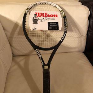 NEW! Wilson Roger Federer 5.3 Hyper Hammer Oversized Racket, Size 4 1/4 for Sale in Humble, TX