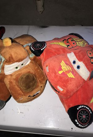 Lightning McQueen and Mater pillows, for Sale in Boston, MA