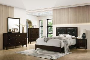 New queen size bedroom set with mattress and box $649 for Sale in Hialeah, FL