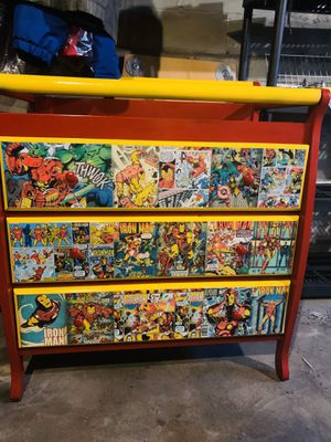 Ironman/marvel baby changing table with 3 drawers for Sale in Bloomfield, NJ