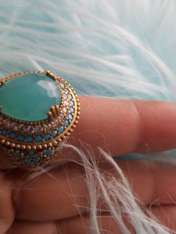 Aquamarine And Turquoise Stones Sterling silver With Bronze ring size 8.5 for Sale in Fort Worth,  TX