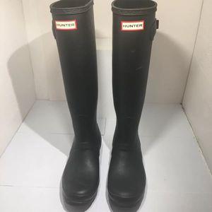 Women's Hunter Tall Rain Boots - Black Sz 8 for Sale in Garner, NC