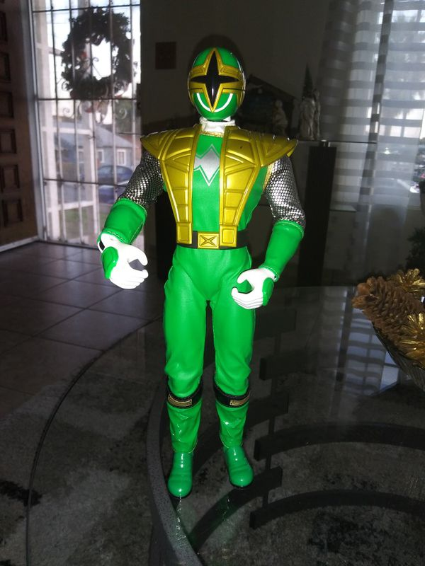 "Video games.. L@@K!! 2002 Bandai green Power Ranger Action Figure 12"" 11803.hard to find"