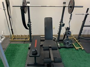 Squat Rack, Adjustable Bench, Flat Bench, Olympic Bar & More for Sale in Cleveland, OH