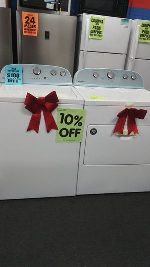 Whirlpool washer dryer💙💙💙💙 only 0-40$ down💙 open mon-sun 💙 no credit 🆗 askf 4 yasmine 4 a discount for Sale in Riverside, CA