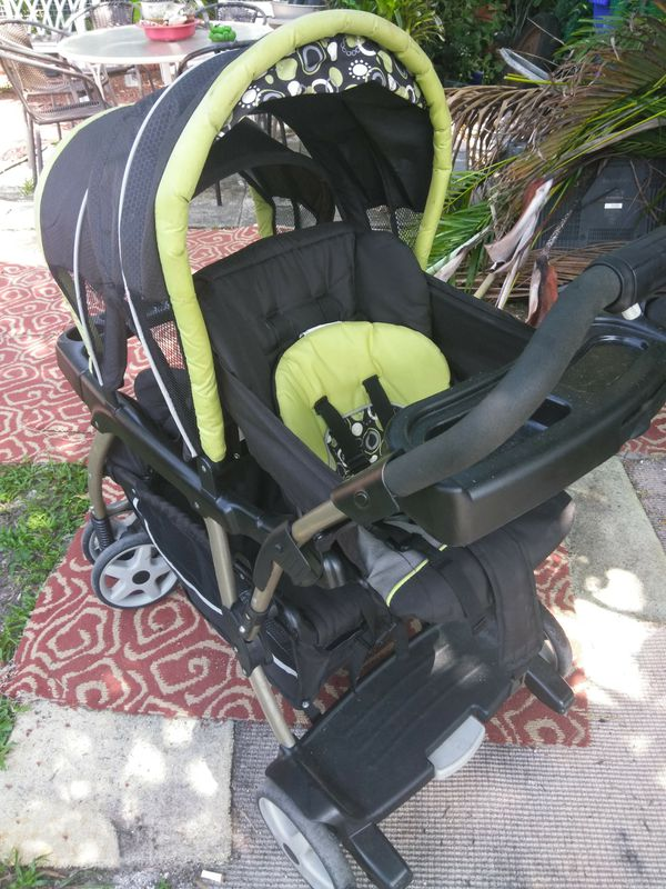 Graco Green and Black Double Baby Stroller