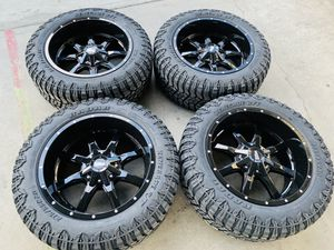 20x10 Brand new rims and tires 2755520 6 lug Chevy gmc Toyota ford Nissan for Sale in Modesto, CA