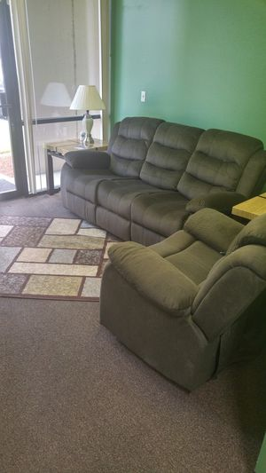 RECLINING SOFA, LOVESEAT AND CHAIR for Sale in Portland, OR