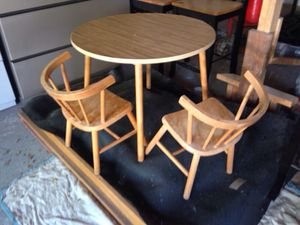 Wood kids table and two chairs set for Sale in Caledonia, MI