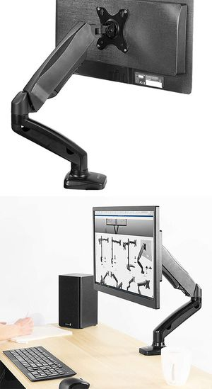 "New in box $20 VIVO (V001O) Height Adjustable Monitor Desk Mount Fully Articulating Single Arm, Screens up to 27"" for Sale in El Monte, CA"