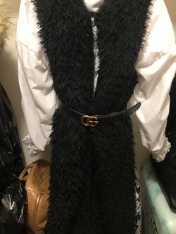 Black Faux Fur Vest for Sale in Arlington,  VA
