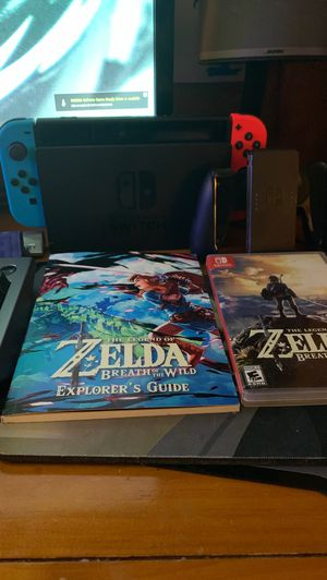 Like New Nintendo Switch Multi-Colored + Zelda BoW and More! for Sale in Suwanee, GA