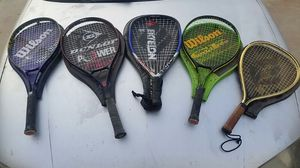 5 tennis rackets for Sale in Tolleson, AZ