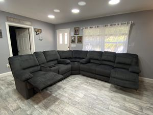 New 3 Piece Sectional 4 Recline 2 Massage FREE SAME DAY DELIVERY for Sale in Tampa, FL