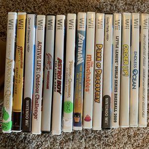 Nintendo Wii 15 Games! for Sale in Iowa City, IA