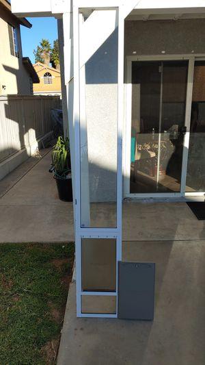 Petsafe Large Tall Dog Door for 8 foot slider. for Sale in Moreno Valley, CA