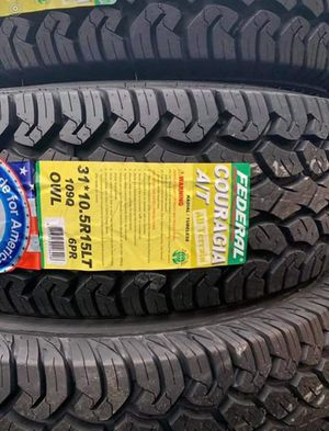 "15"" FEDERAL Couragia A/T All Terrain Tires Size 31x10.50R15 LT .......$99 Each for Sale in Huntington Beach, CA"