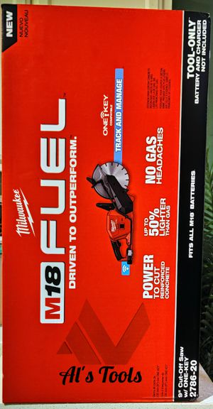 Milwaukee M18 fuel 9 in cut off concrete saw tool only for Sale in Paramount, CA
